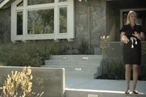 Entryway Design - Concrete Steps & Walls