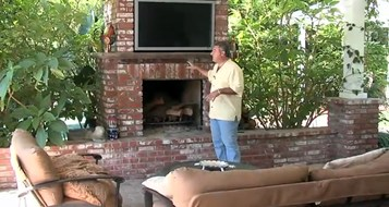 Information about using brick for outdoor fireplace facing.